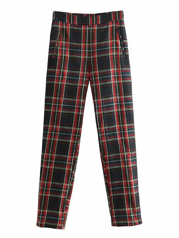 'Electra' Plaid Tapered Pants