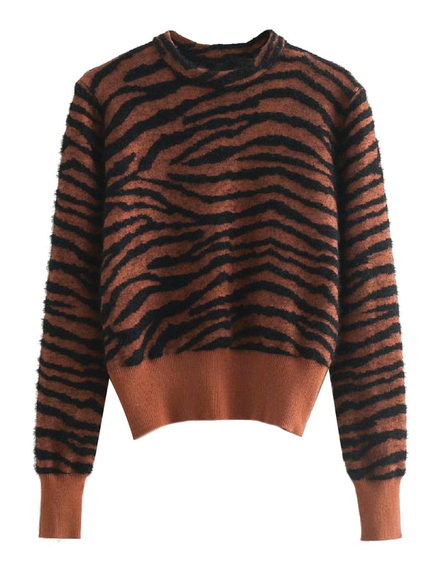 'Tigger' Animal Print Sweater