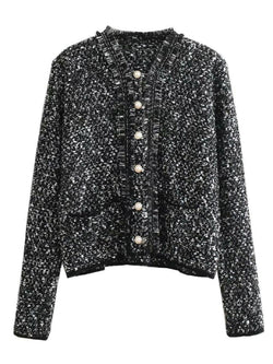 'Melissa' Pearl Buttons Tweed Jacket