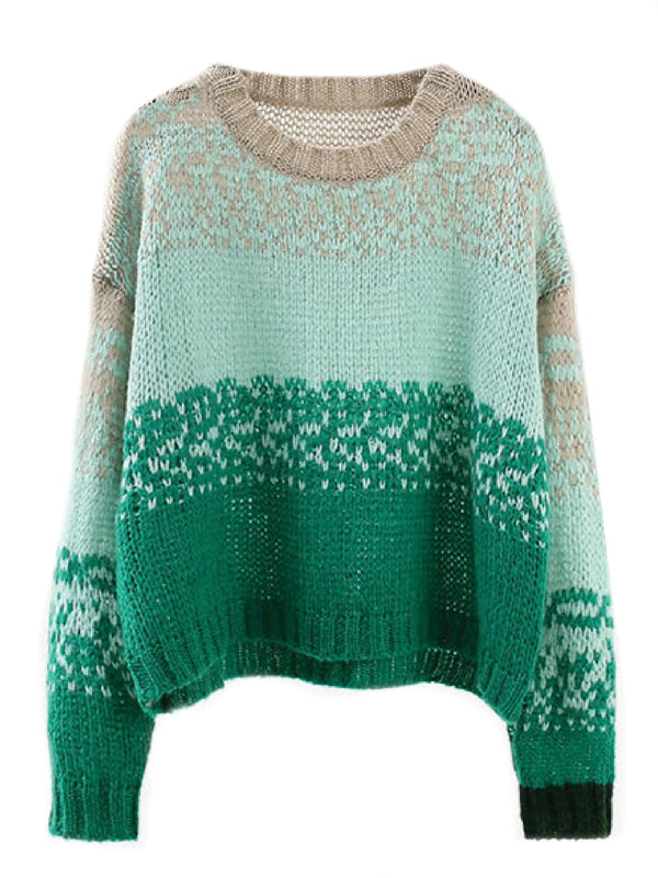 'Jill' Ombré Colored Openwork Sweater (3 Colors)