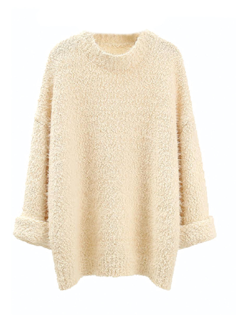 'Nita' Fuzzy Oversized Sweater (3 Colors)