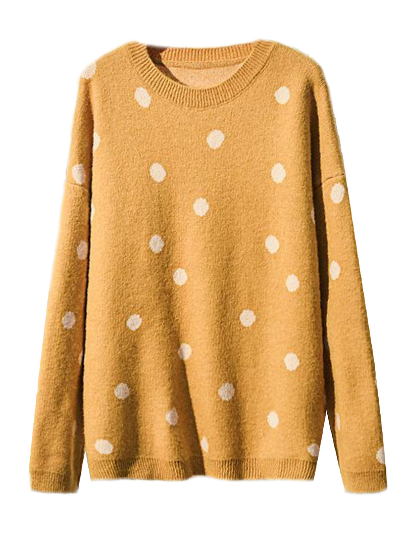 'Kainoa' Polka Dot Crewneck Sweater (3 Colors) – Plus Size