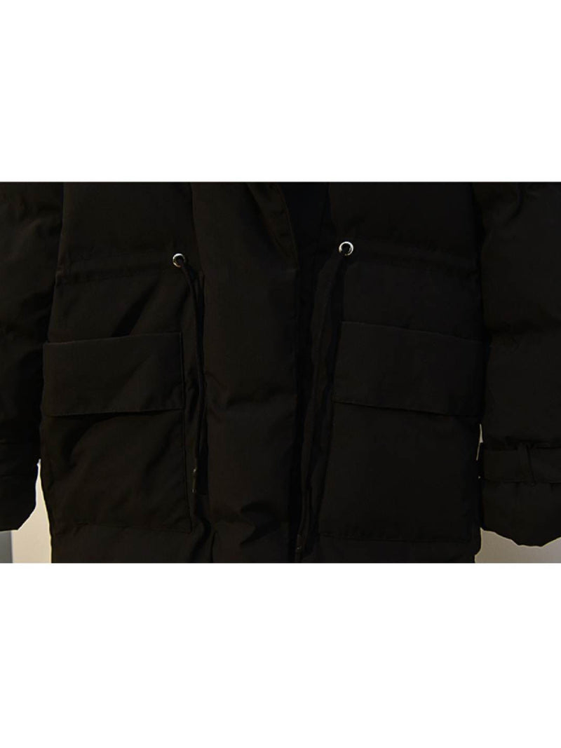 'Gill' Front Pocket Puffer Coat – Plus Size