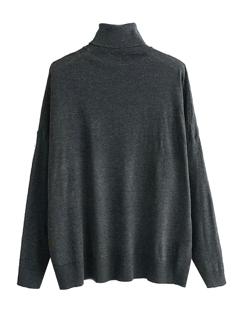 'Vada' Turtleneck Lightweight Knitted Sweater (2 Colors)
