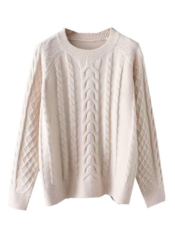 'Padma' Chunky Knit Crewneck Sweater (3 Colors)