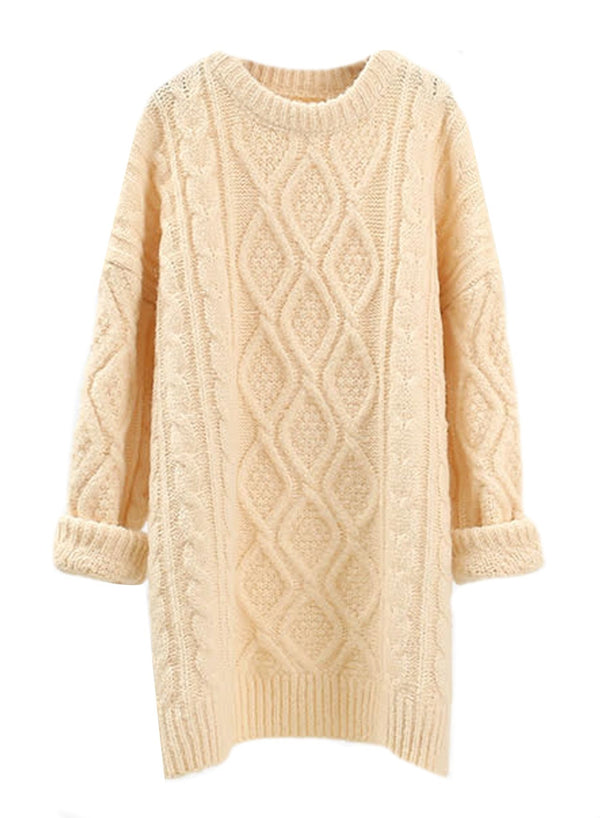 'Gerrie' Cable Knit Chunky Longline Sweater (3 Colors)