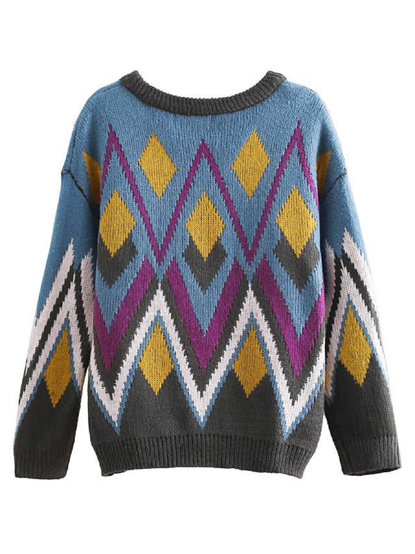 'Kato' Aztec Sequinned Crewneck Sweater