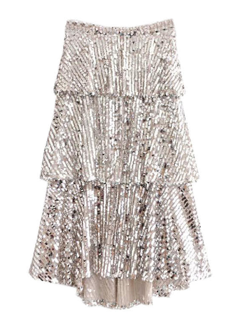 'Amiee' Sequinned Midi Skirt