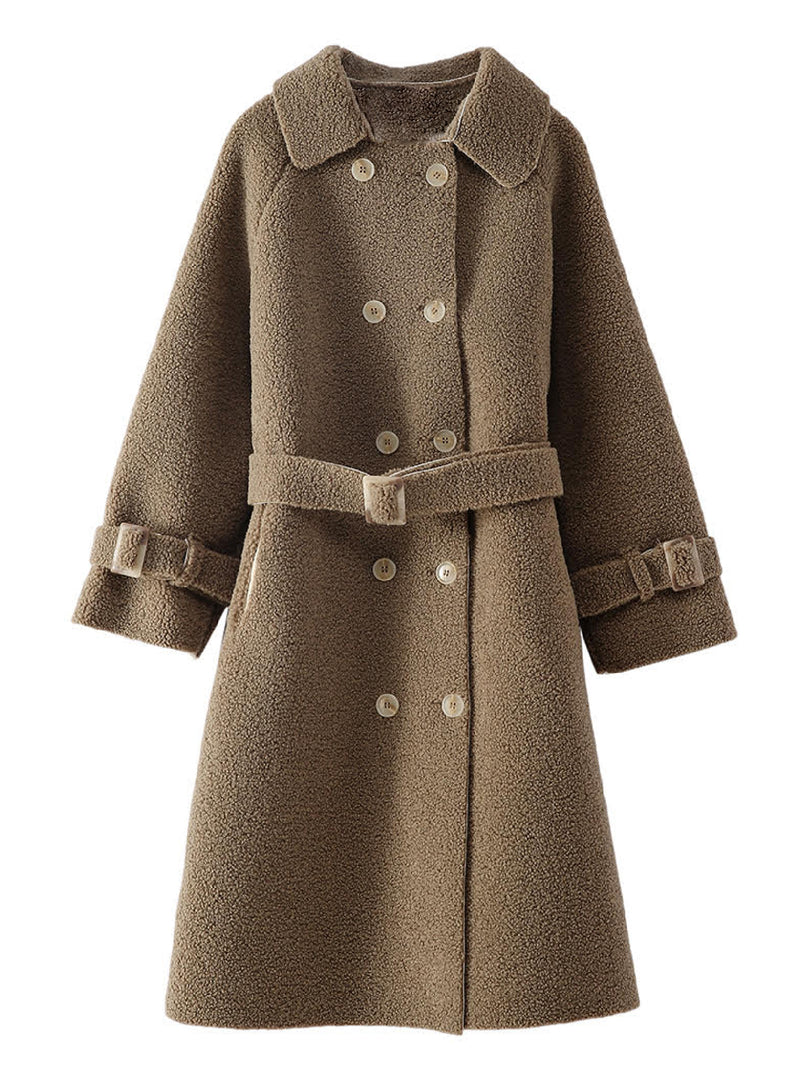 'Devon' Fleece Double Breasted Military Coat (2 Colors)