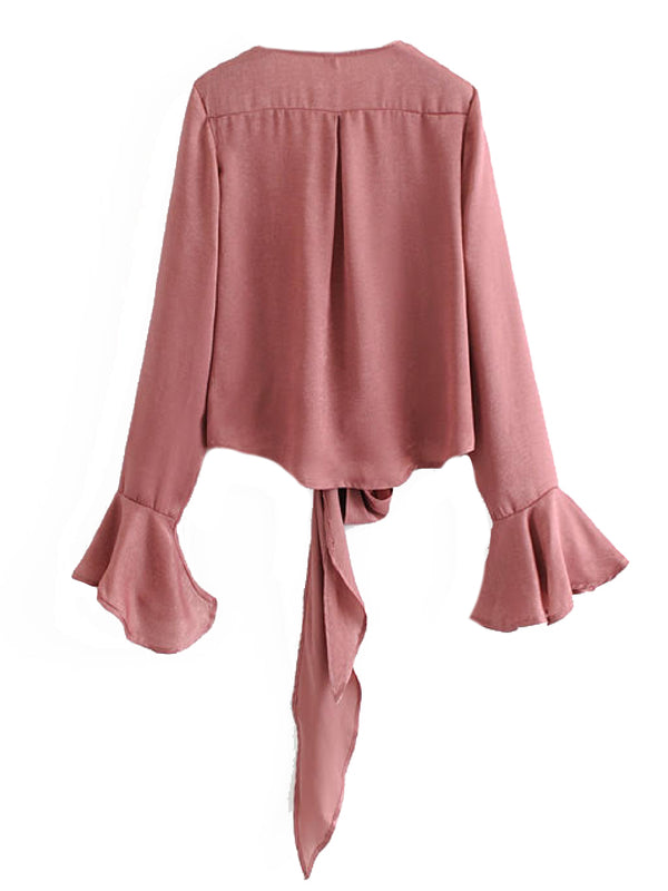 'Blakely' Frilly Front Tied Blouse