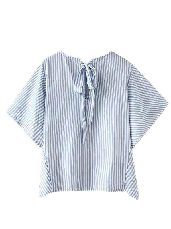 'Krystal' Striped Back Tied Top