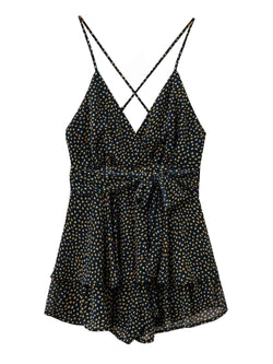 'Joey' Dotted Print Strap Romper (3 Colors)