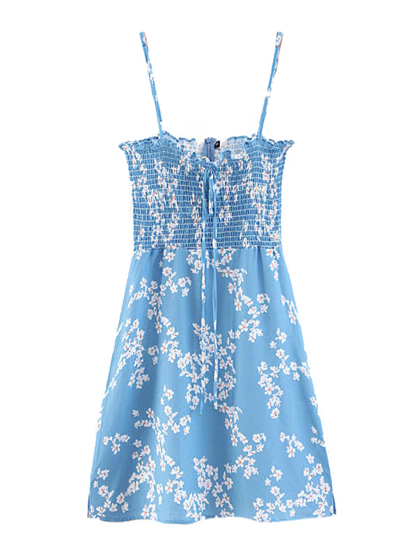 'Jules' Floral Ruched Mini Dress