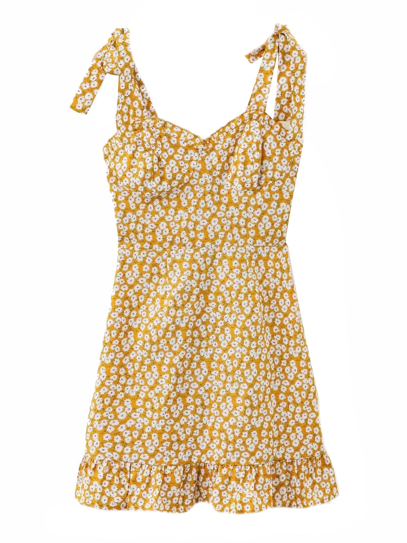 'Brynlee' Floral Tied Strap Mini Dress (2 Colors)