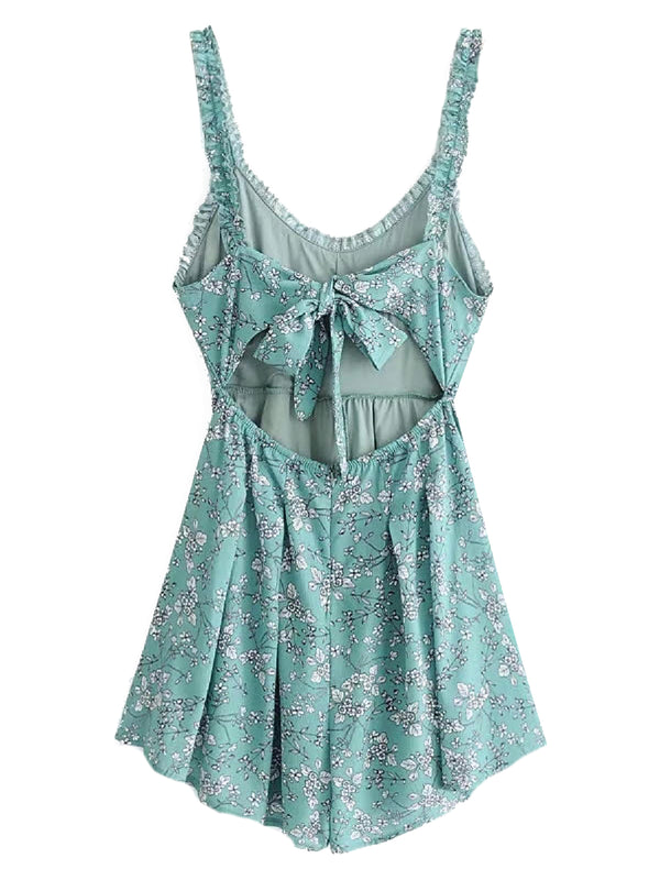 'Raegan' Floral Open Back Romper