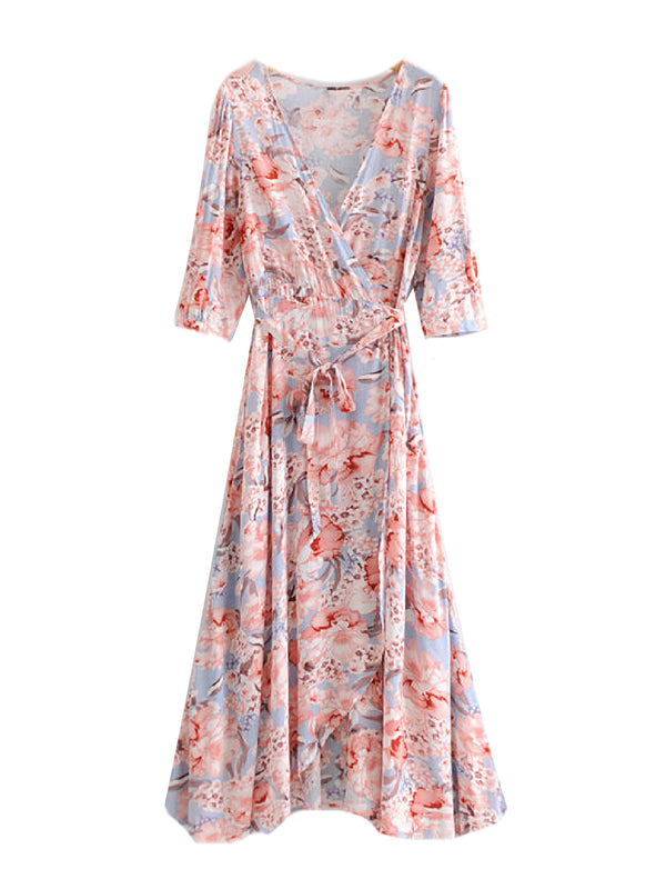 'Rivka' Floral Wrap Dress