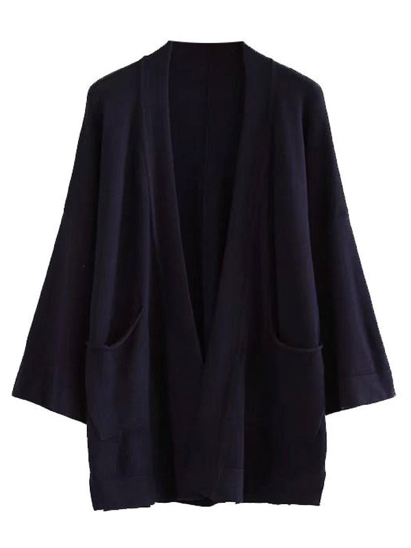 'Paityn' Three Quarter Sleeve Open Cardigan (2 Colors)