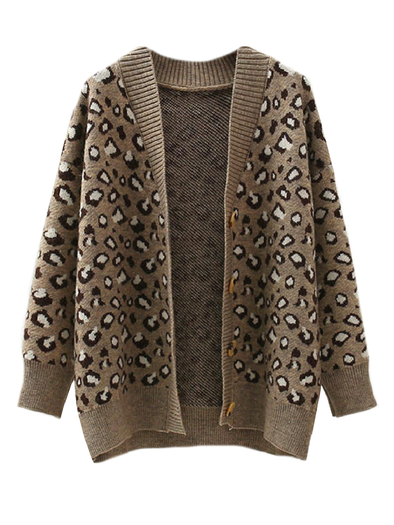 'Laney' Leopard Print Open Cardigan (2 Colors)