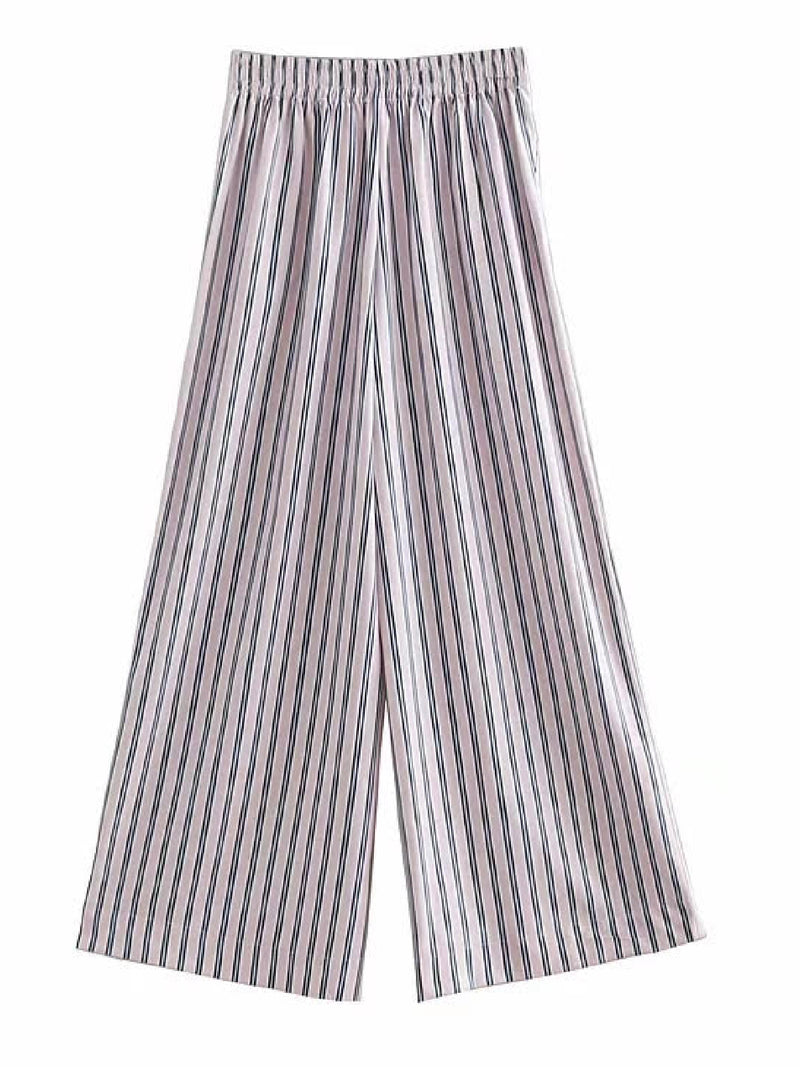 'Cim' Striped Wide Leg Pants