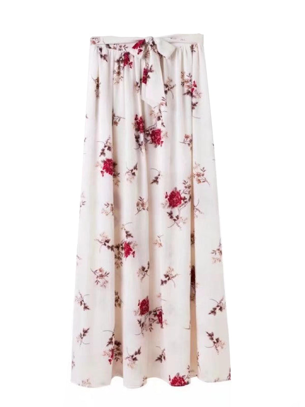 'Bobbi' Floral Tied Waist Wrap Maxi Skirt (2 Colors)