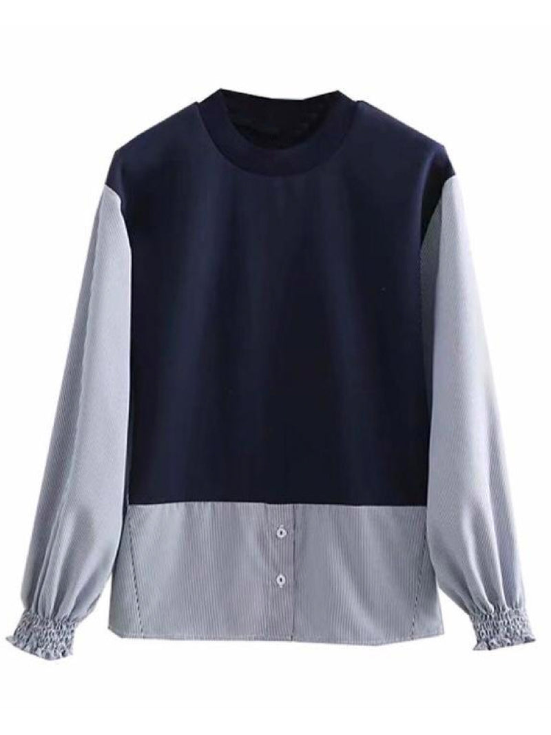 'Layla' Mock Shirt Sweater (2 Colors)