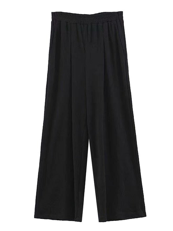 'Alchemy' Elastic Waist Wide Leg Pants (2 Colors)