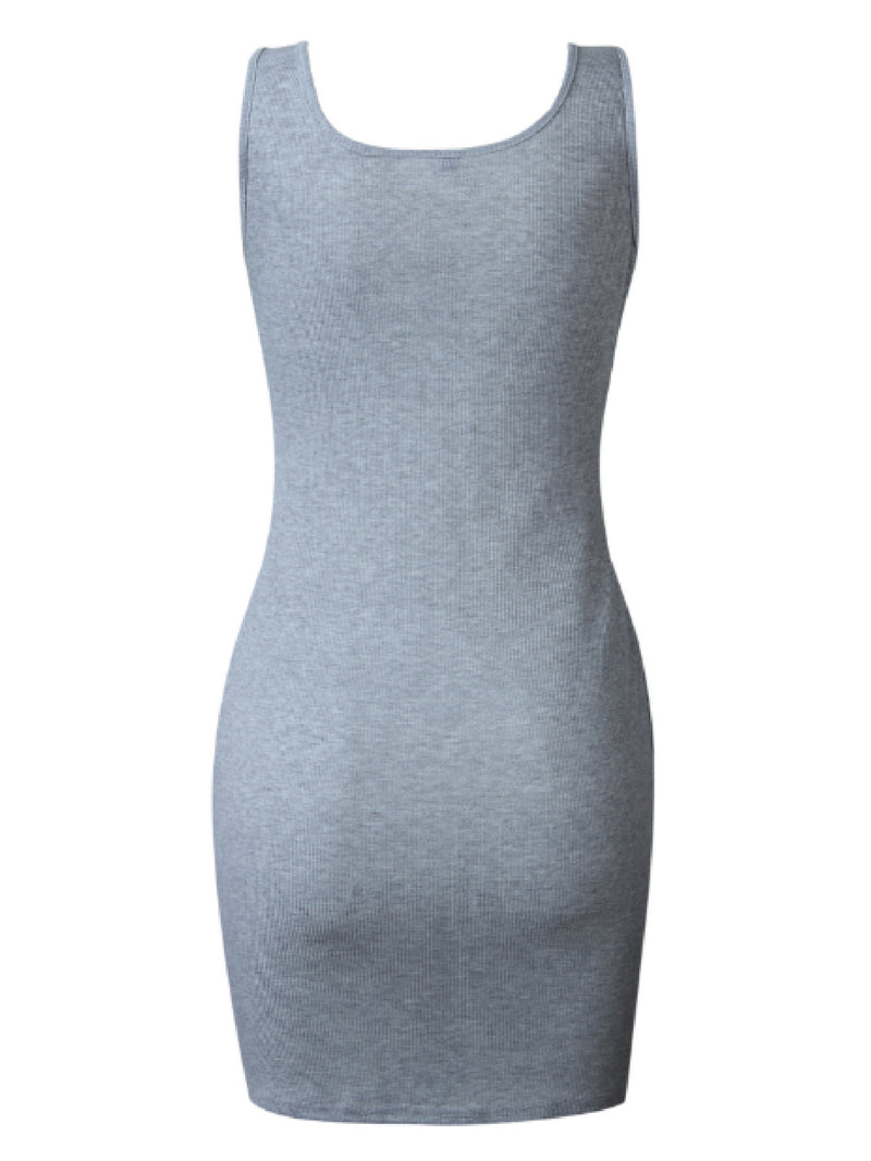 'Tabby' Tied Waist Knitted Tank Mini Dress (3 Colors)