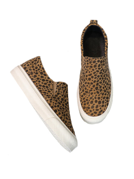 'tammy' Leopard Print Slip On Sneakers (2 Colors) by Goodnight Macaroon