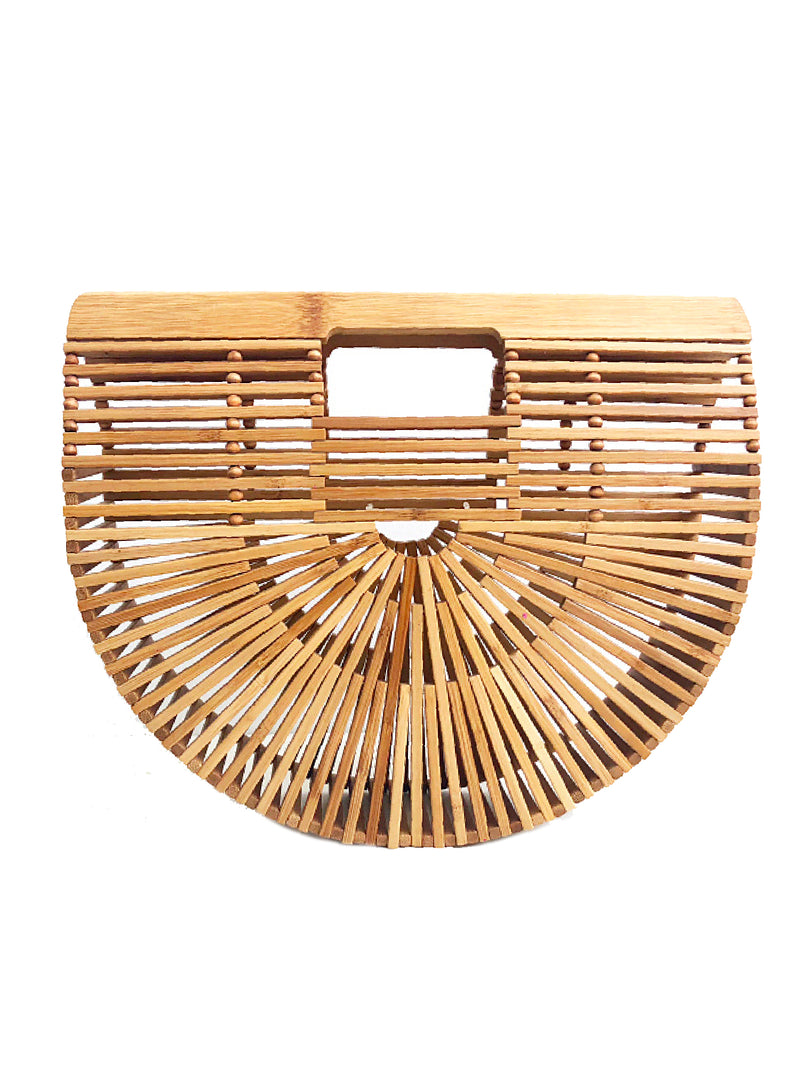 'Kaelan' Half Moon Bamboo Bag
