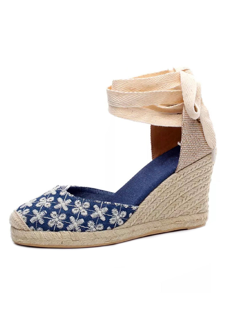 'Negin' Ballerina Wedge Espadrilles (5 Colors)