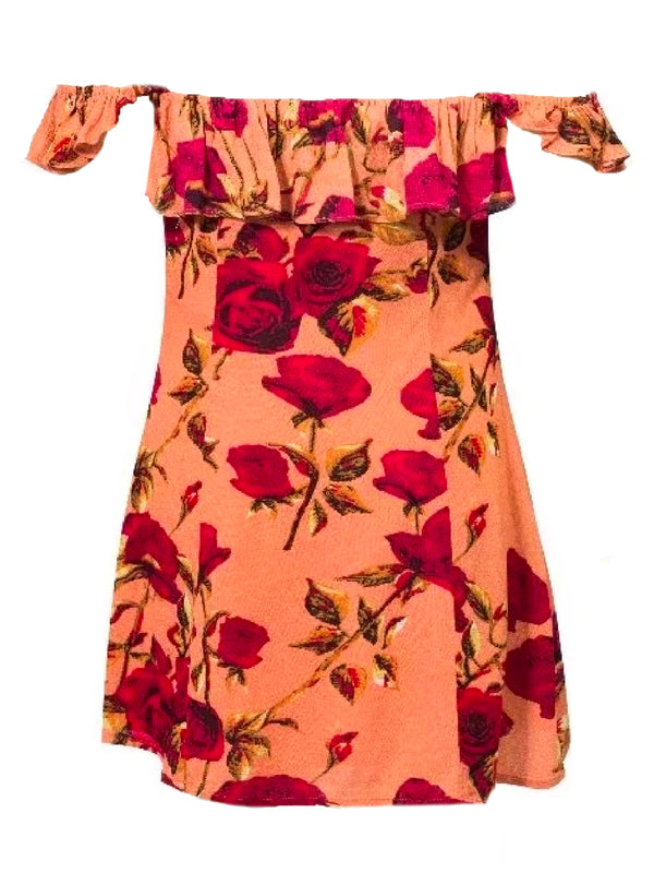 'Vi' Floral Off The Shoulder Mini Dress