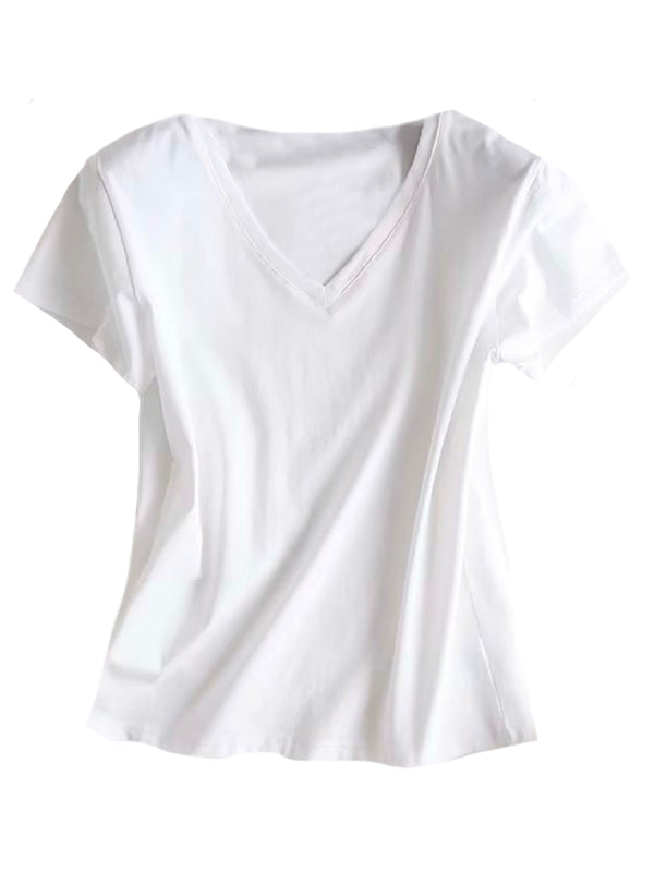 'Joey' Basic V-Neck T-Shirt (2 Colors)