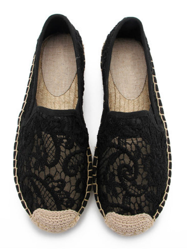 'Temi' Crochet Espadrilles (2 Colors)