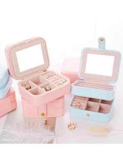 'Lannie' Small Travel Jewelry Box (2 Colors)