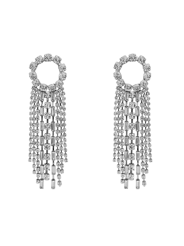 'Pammy' Rhinestone Drop Earrings