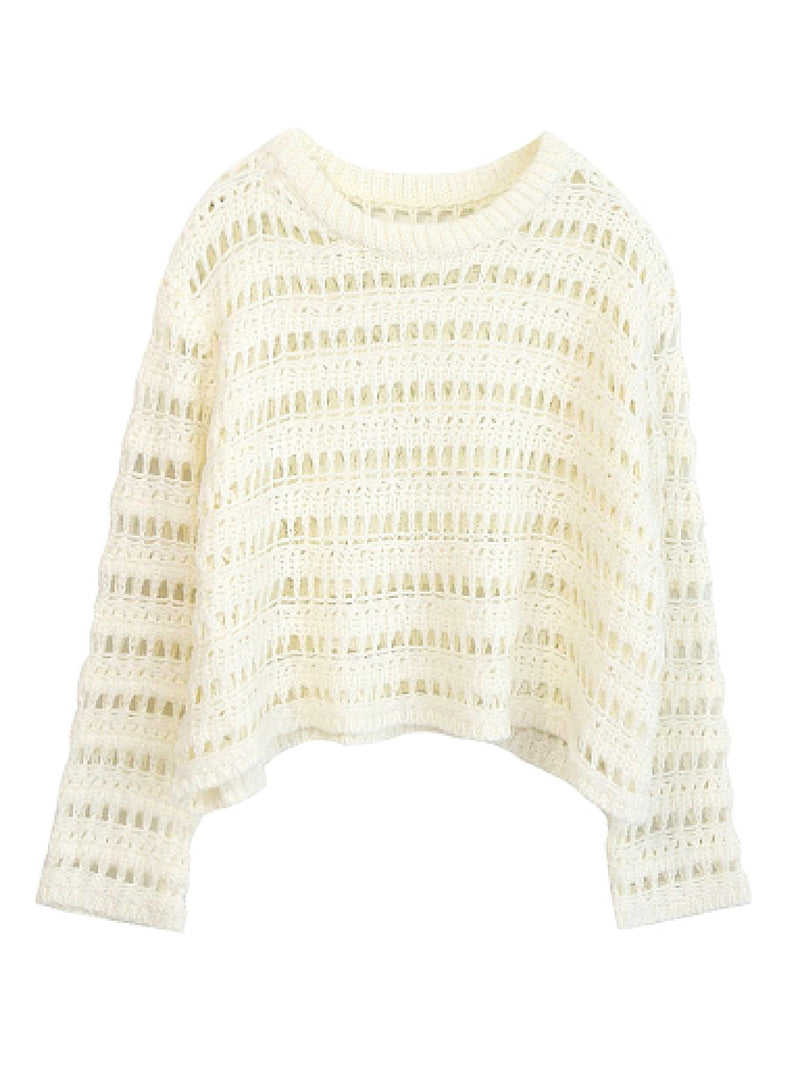 'Nickie' Open Work Knitted Sweater