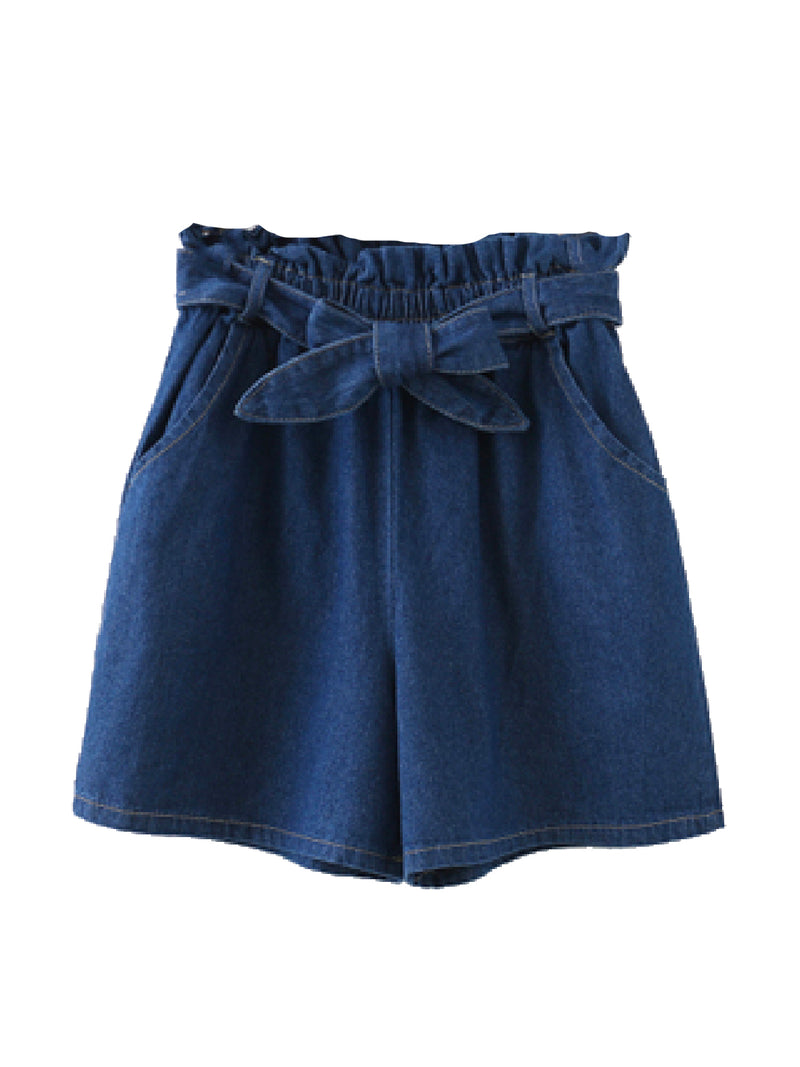 'Mira' Chambray Paper Bag Shorts (2 Colors)