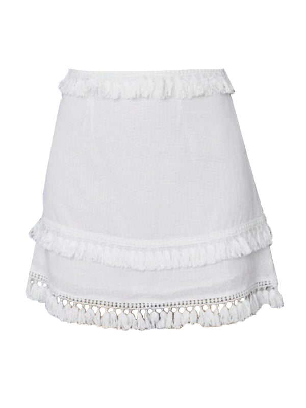 'Peggy' Tassels Mini Skirt (7 Colors)