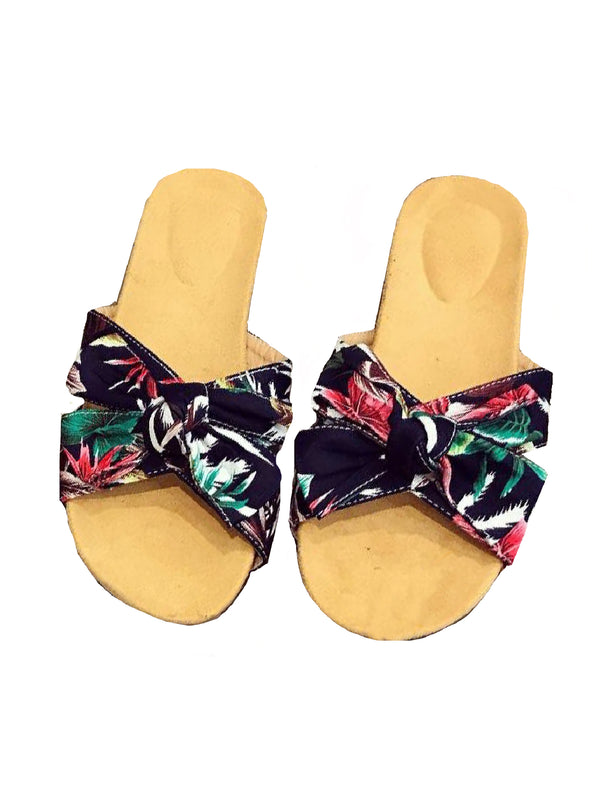 'Moana' Floral Ribbon Sandals (2 Colors)