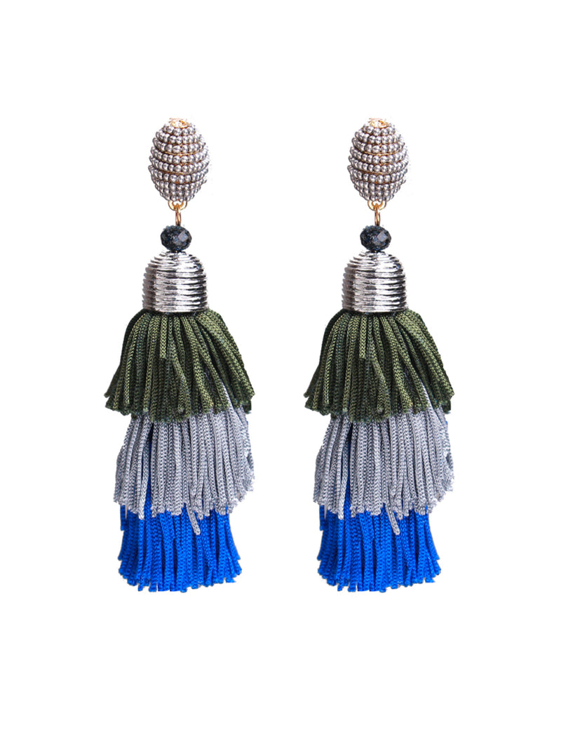 'Sammi' Tassels Statement Drop Earrings (6 Colors)
