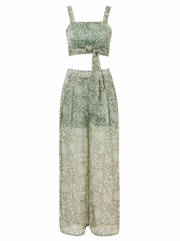 'Tessa' Floral Sheer Co-Ord (2 Colors)