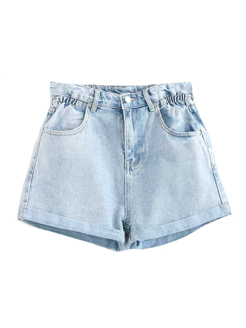 'Becky' High Waist Denim Shorts (2 Colors)
