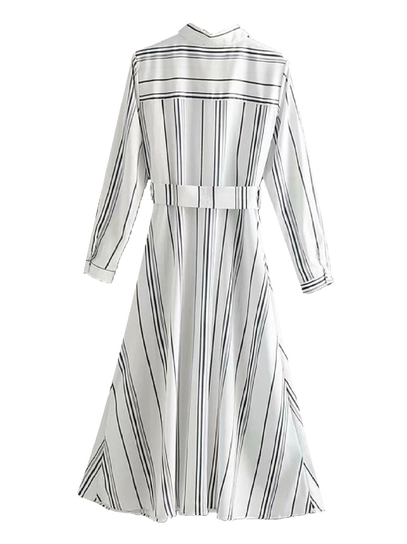 'Cos' Belted Striped Shirt Dress