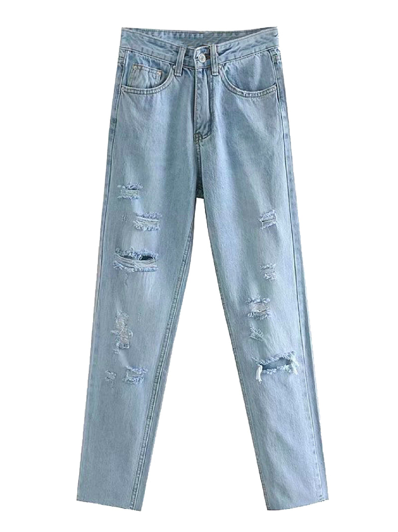 'Jamie' Distressed Light Washed Jeans