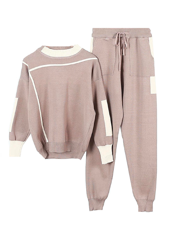 'Anka' Sporty Knitted Two Piece Set (4 Colors)