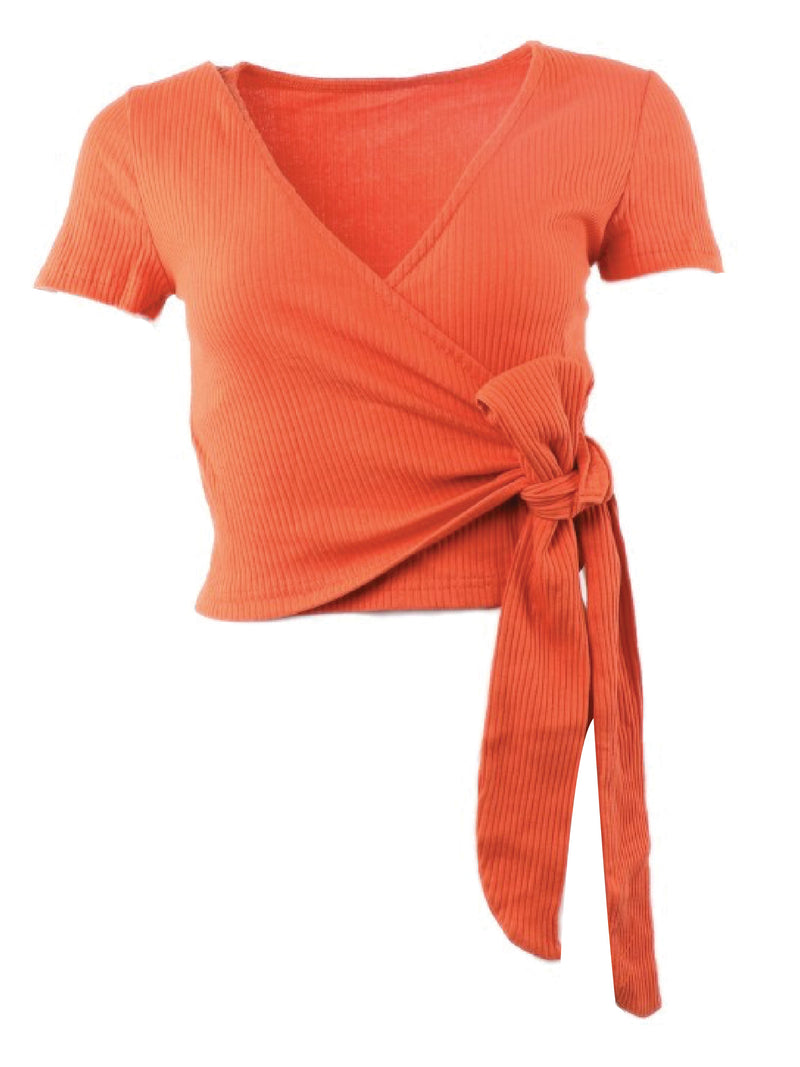 'Hadeya' V-neck Wrap Top (6 Colors)