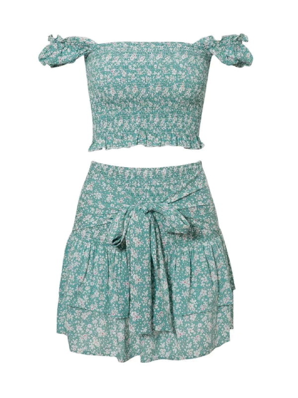 'Edrea' Floral Front Tied Co-ord (2 Colors)