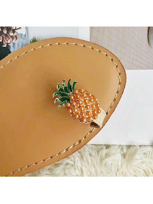 'Karene' Embellished Pineapple Toe Loop Sandals