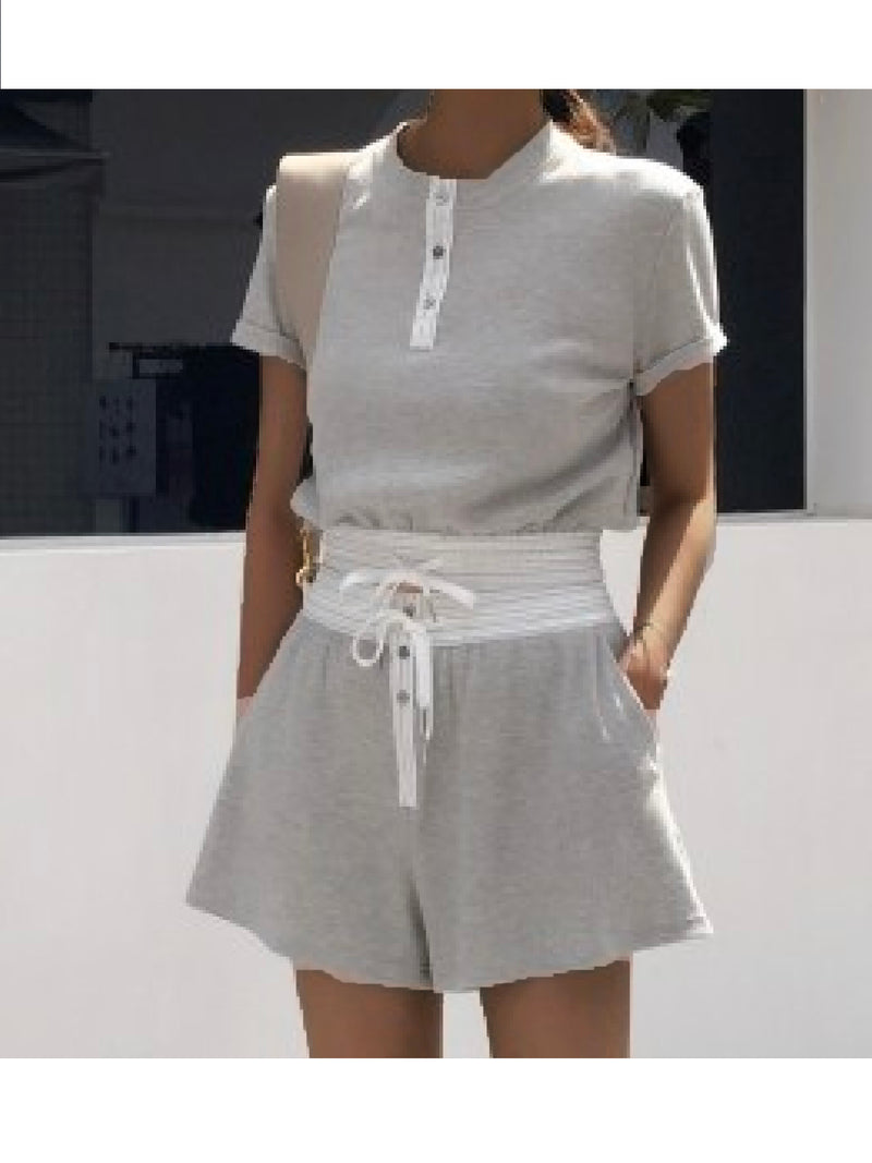 'Hay' Cotton Elastic Waist Co-Ord (2 Colors)