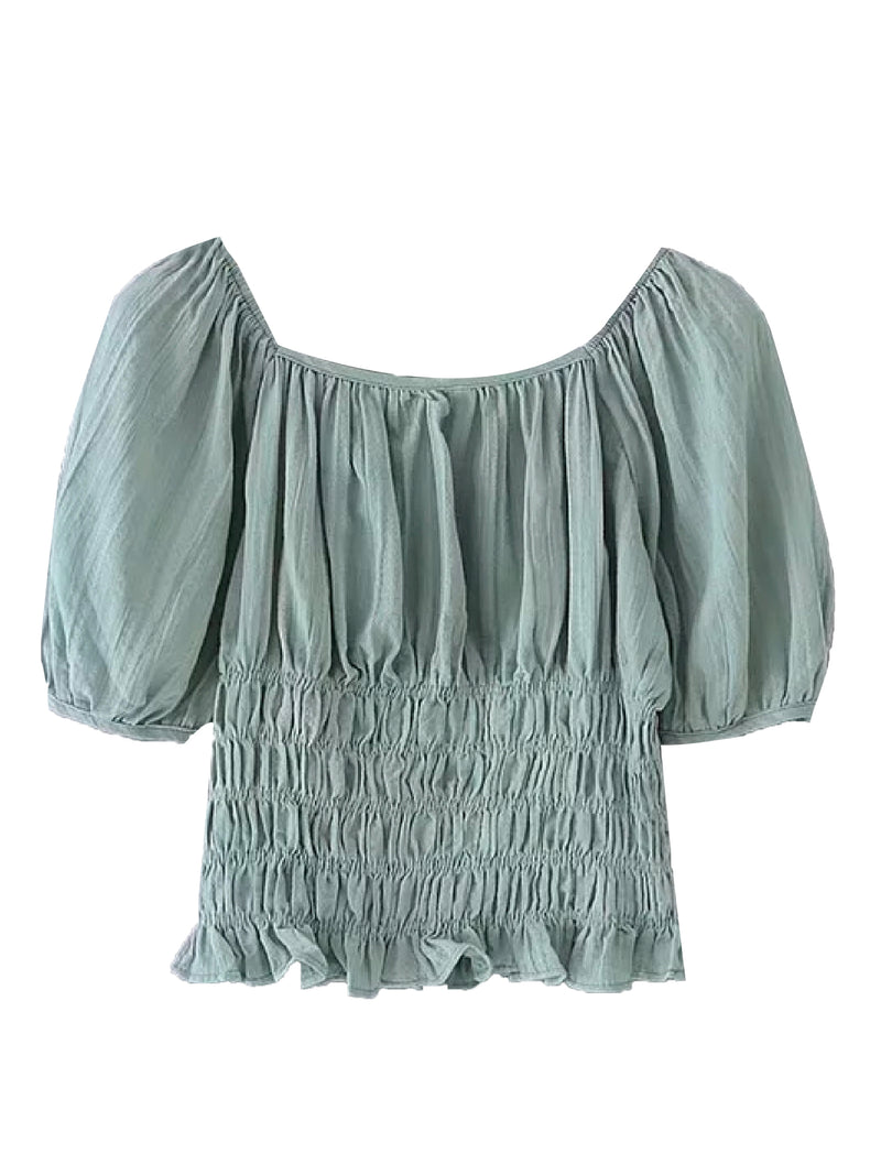 'Ife' Off The Shoulder Ruched Top (3 Colors)